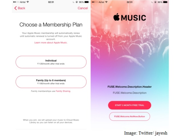How much does music cost on apple music