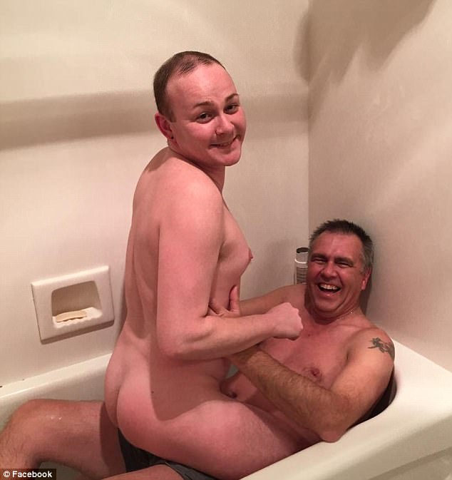 Boy sees dad naked