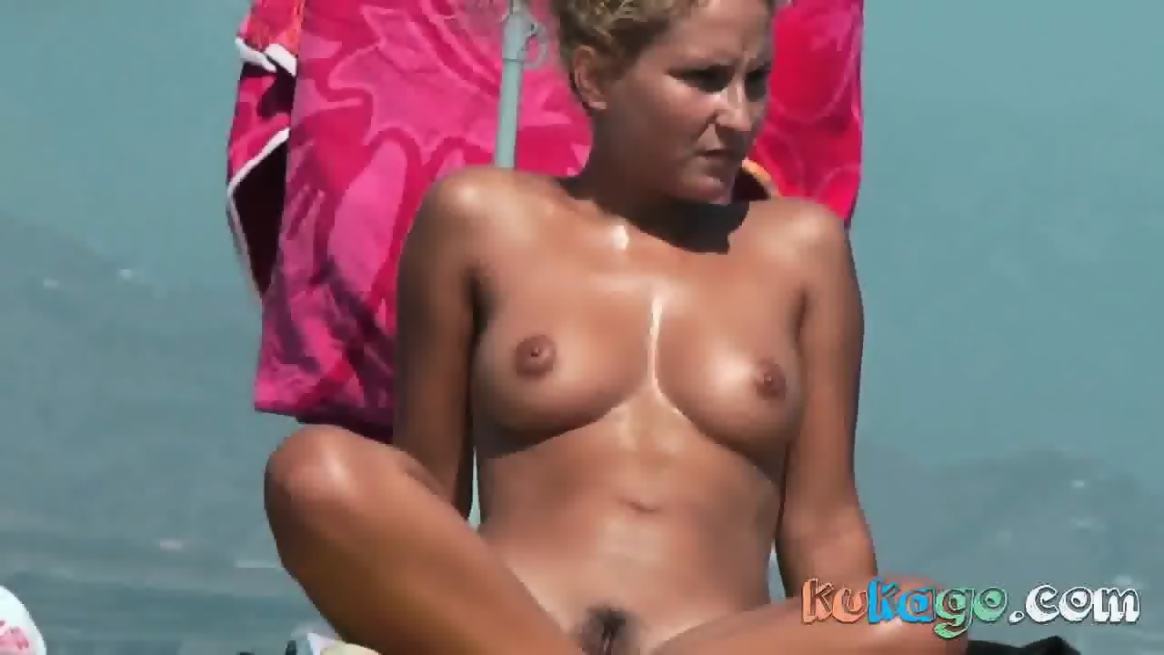 Pussy showing at beach