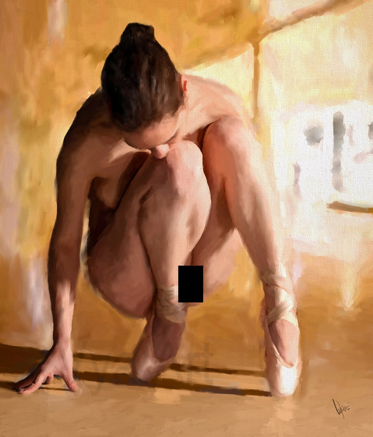 Nude girl painted for sex